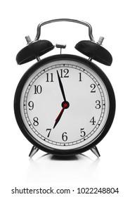 Clock on white