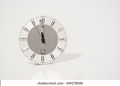 clock on a white background