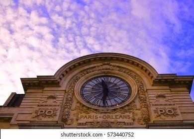 The clock of Orsay Museum, Paris, France