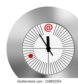 Clock: Red Dot E-Mail