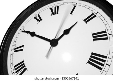 Clock with Roman numeral