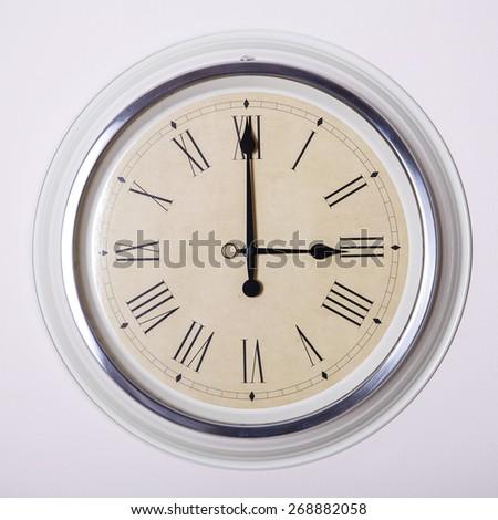 Clock Roman Numerals 3 Oclock Stock Photo Edit Now 268882058 - 3-roman-numerals-clocks