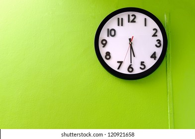 Clock showing 5:30 o'clock