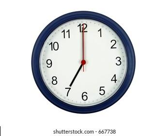 Clock showing 7 o'clock