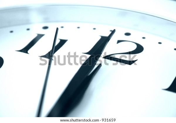 clock showing almost midnight