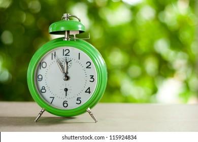 Clock showing five to twelve,Clock