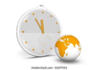 Clock showing the passing time