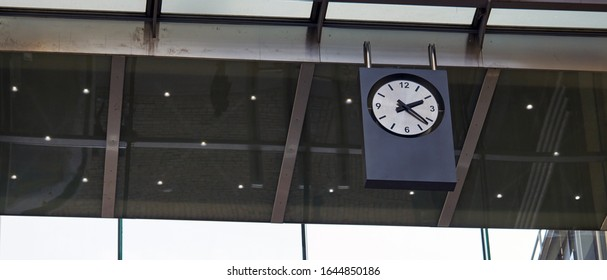 Clock at Station. on the morning time - Shutterstock ID 1644850186