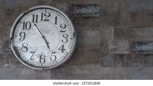 Clock stone background
