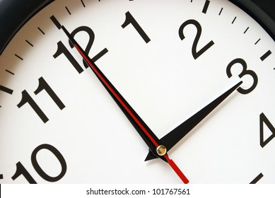 A clock with the time being three am.