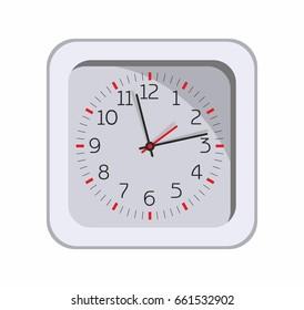 Clock. Time. Dial. Illustration on white background.