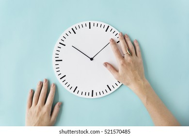 Clock Time Second Minute Hour Punctual Circle