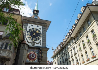 Clock tower in Bern in Swiss