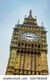 The Clock Tower of Big Ben in London. The famous icon of London, England, Europe