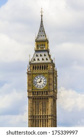 """Clock tower """"Big Ben"""" near House of Parliament, London, UK. Tower is now officially called the Elizabeth Tower to celebrate the Diamond Jubilee of Queen Elizabeth II."""