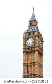 Clock tower Big Ben Palace of Westminster, London England UK.