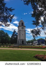 Clock tower in Blenheim on the South Island of New Zealand
