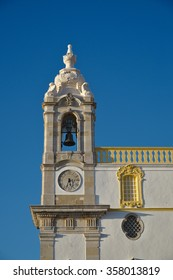 Clock tower of Carmel's Church (Igreja do Carmo) in Faro. Portugal