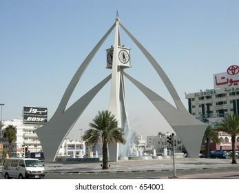 clock tower in dubai city