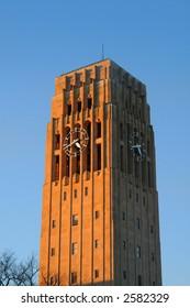 Clock tower in evening sun light