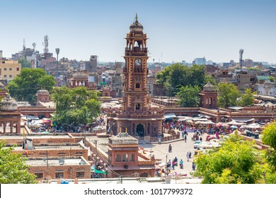 Clock tower in Jodhpur, India