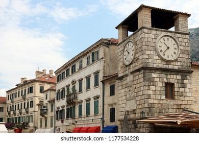 clock tower Kotor town Montenegro