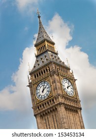 The Clock tower in London, or the tower bell of the House of Parliament in London, UK
