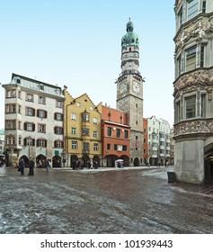 Clock tower of Old town in Salzburg - Austria