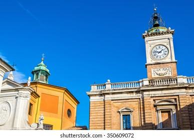 Clock tower on Piazza del Popolo - Ravenna