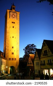 Clock Tower in Rothenburg