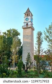 Clock tower. The Skanderbeg Square  is the main plaza in the centre of Tirana