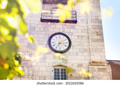 Clock tower of St. Jean Cathedral in Besancon