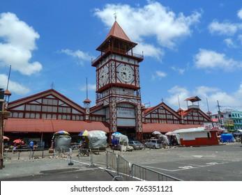 Clock tower of Stabroek market, Georgetown, Guyana.