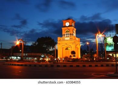 Clock Tower in Surin Circle, Phuket Town