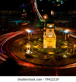 Clock Tower with Traffic Circle
