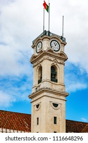 Clock tower of the University of Coimbra Portugal