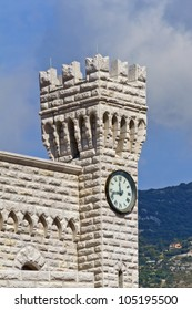 Clock Towers. Prince's Palace of Monaco is official residence of Prince of Monaco. Principality of Monaco is a sovereign city state, located on French Riviera in Western Europe