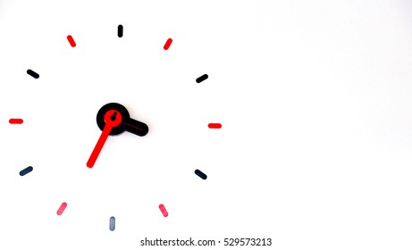 Clock wall on white background, Modern watch on white background, biological clock