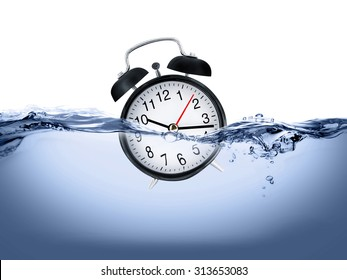 Clock in water