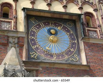 Clock in Wroclaw