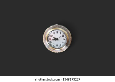 Clocks isolated on black background