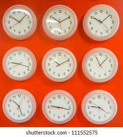 Clocks on different time zones