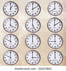 clocks with time zone