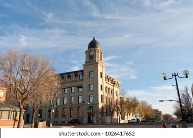 Clocktower in downtown Lethbridge, Alberta