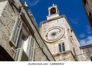 Clocktower in Split. Croatia
