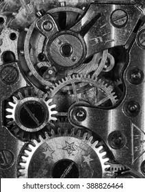 clockwork old mechanical USSR watch