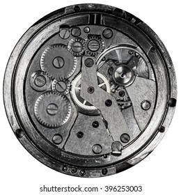 clockwork old mechanical USSR watch, high resolution and detail