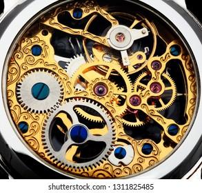 Clockwork swiss watch