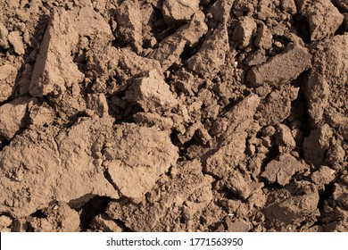 clods of plowed land, dark background texture, field ready for planting, copy space