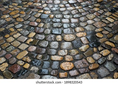 Cloeup of medieval cobbles in the street